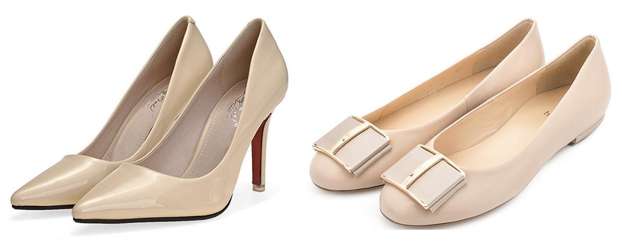 бежевые лакированные туфли, бежевые балетки
