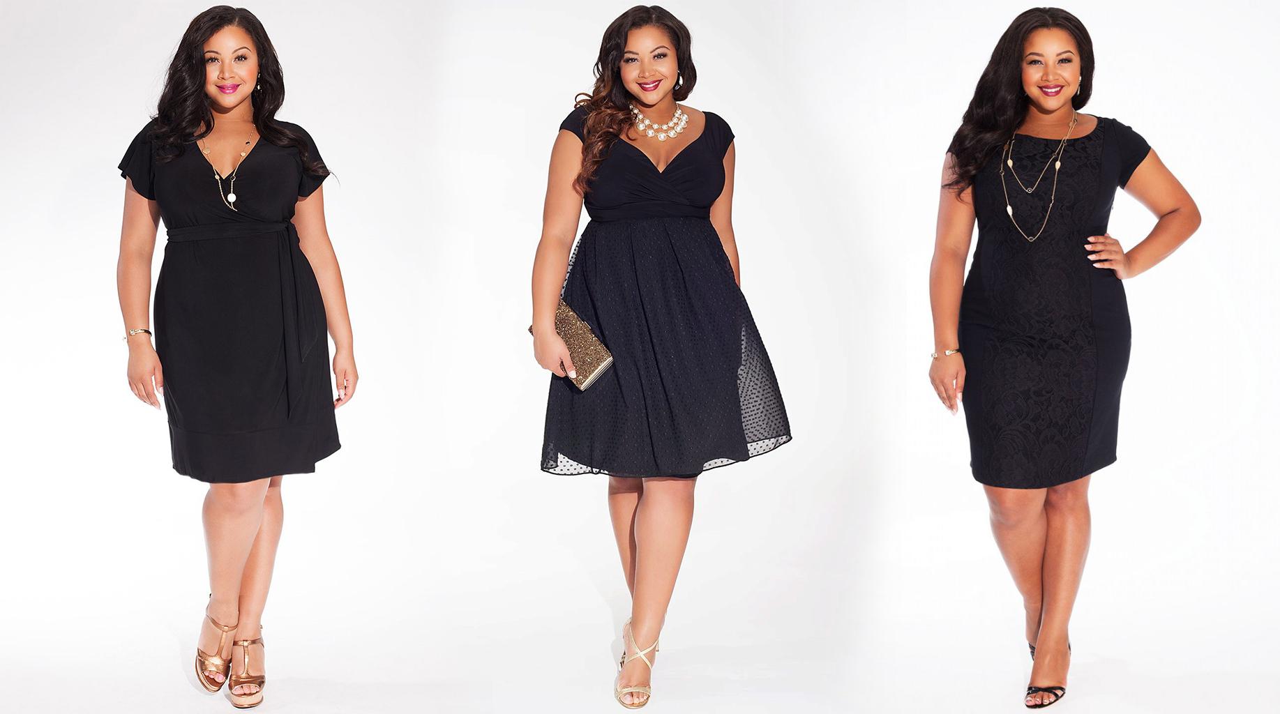 Маленькое черное платье для полных женщин фото 1
