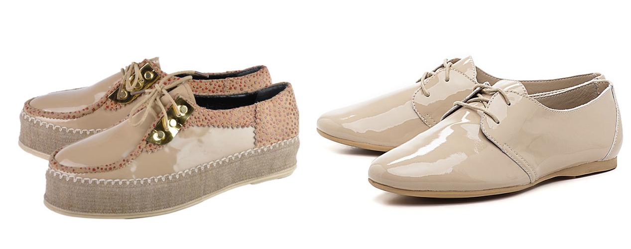 бежевые ботинки, бежевые лакированные ботинки