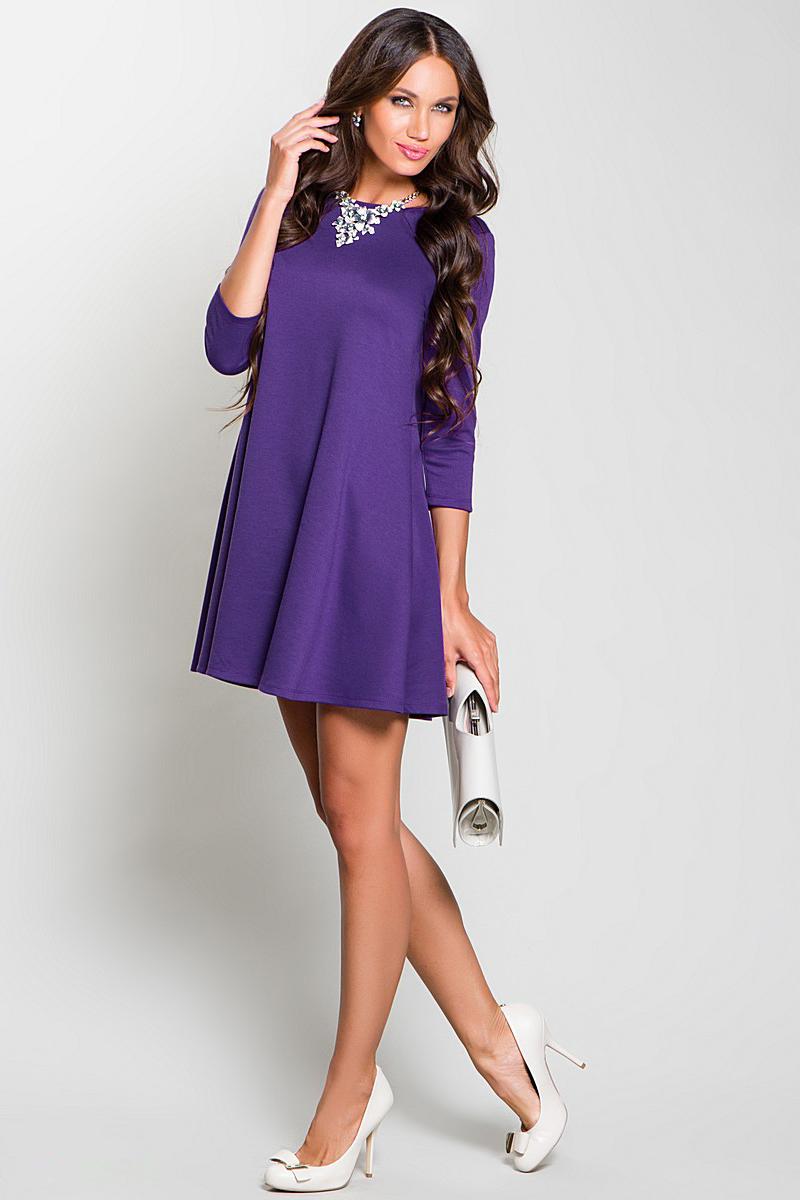 Короткие фиолетовые платья фото 4