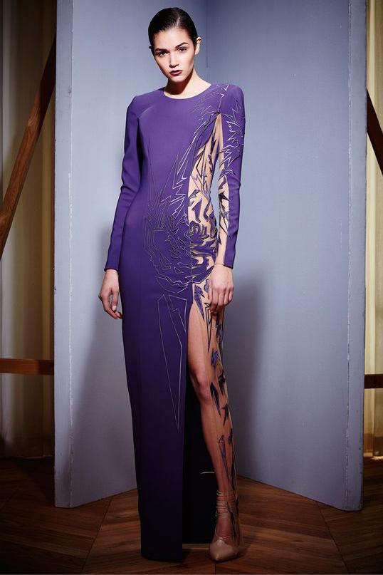 Вечерние платья фиолетового цвета фото 3