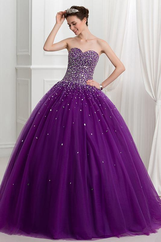 Пышные фиолетовые платья фото 6