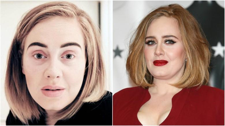 Адель звезды без макияжа