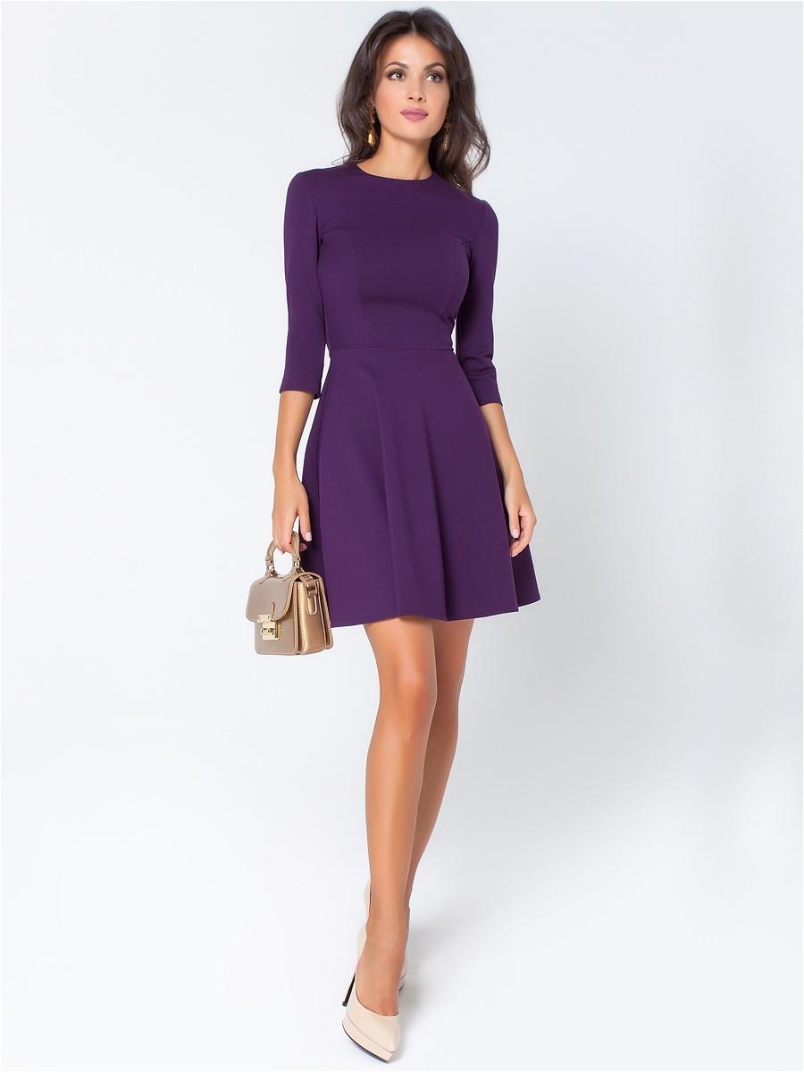 Короткие фиолетовые платья фото 3