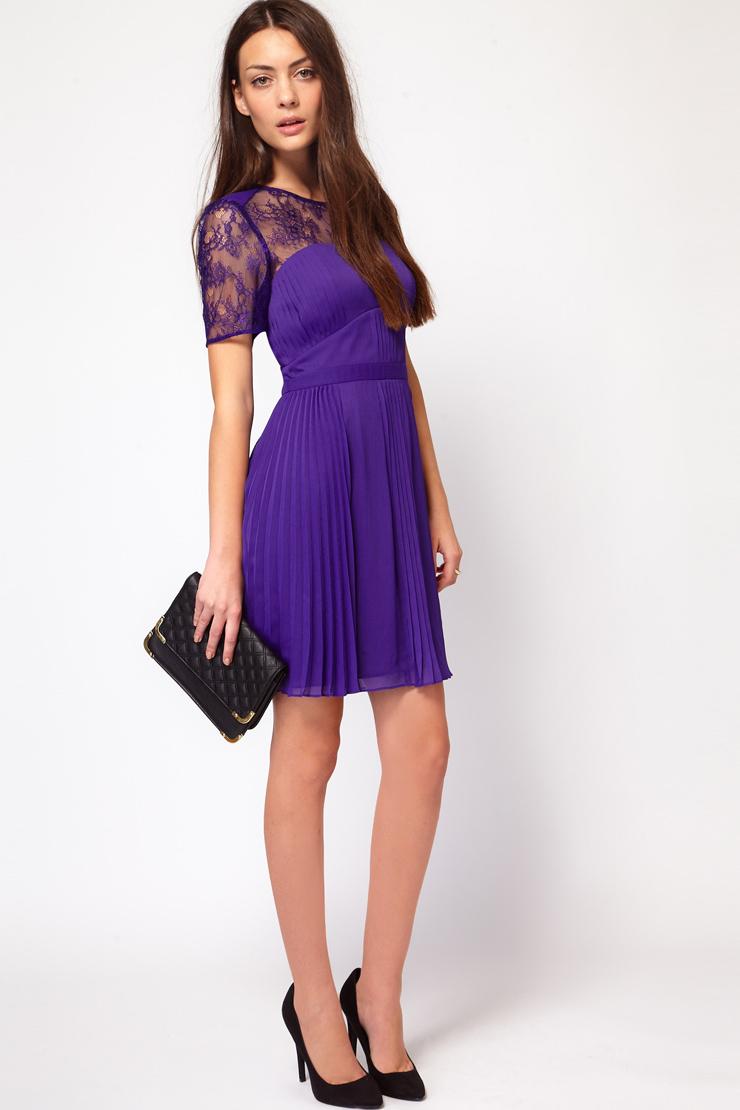 Короткие фиолетовые платья фото 1
