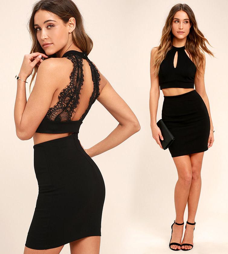 Короткое платье с открытой спиной черного цвета фото 3