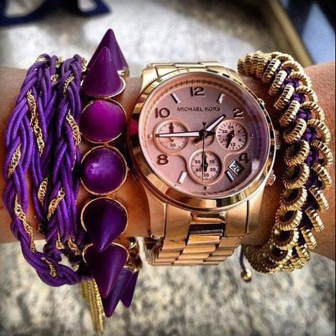 аксессуары к фиолетовому платью фото 6