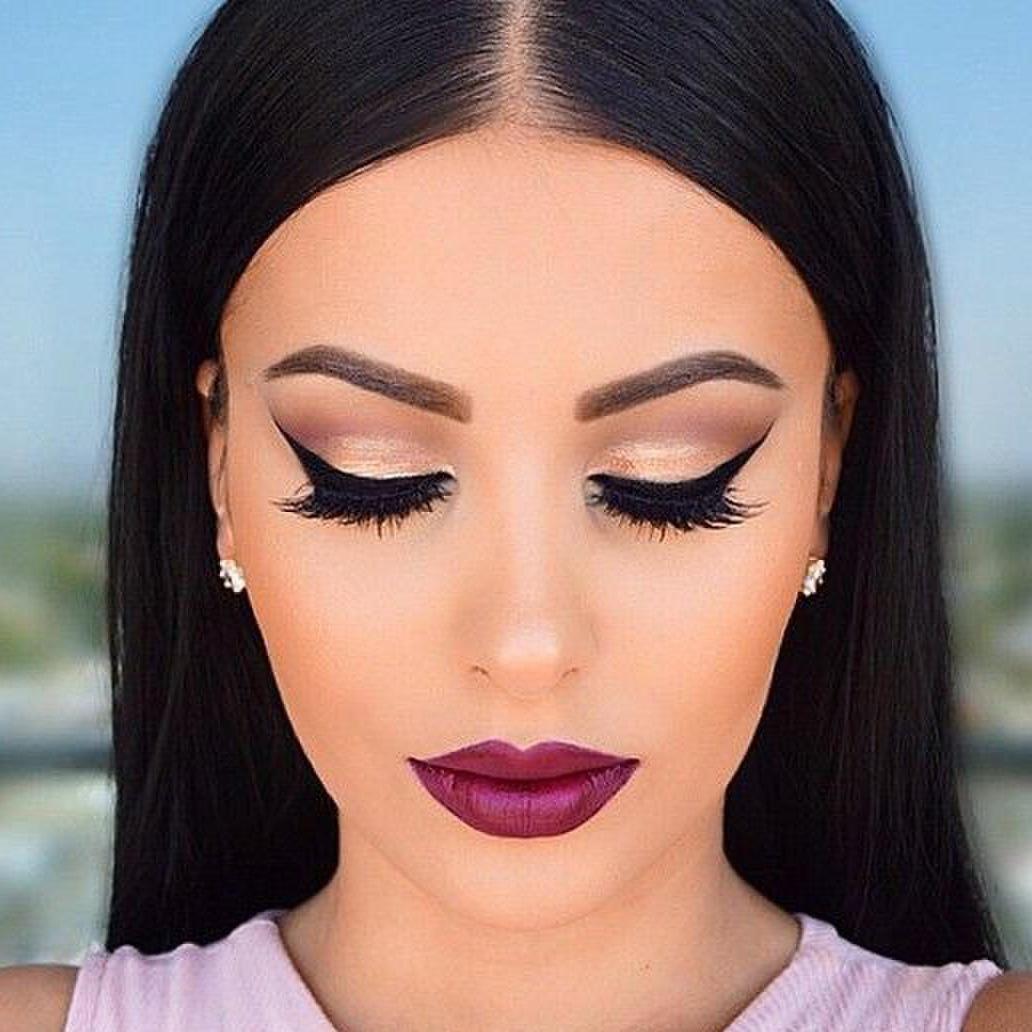 макияж под фиолетовое платье фото 6