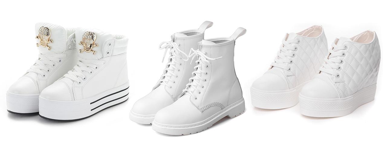 белые кроссовки с черепом, белые ботинки, белые кроссовки на толстой подошве