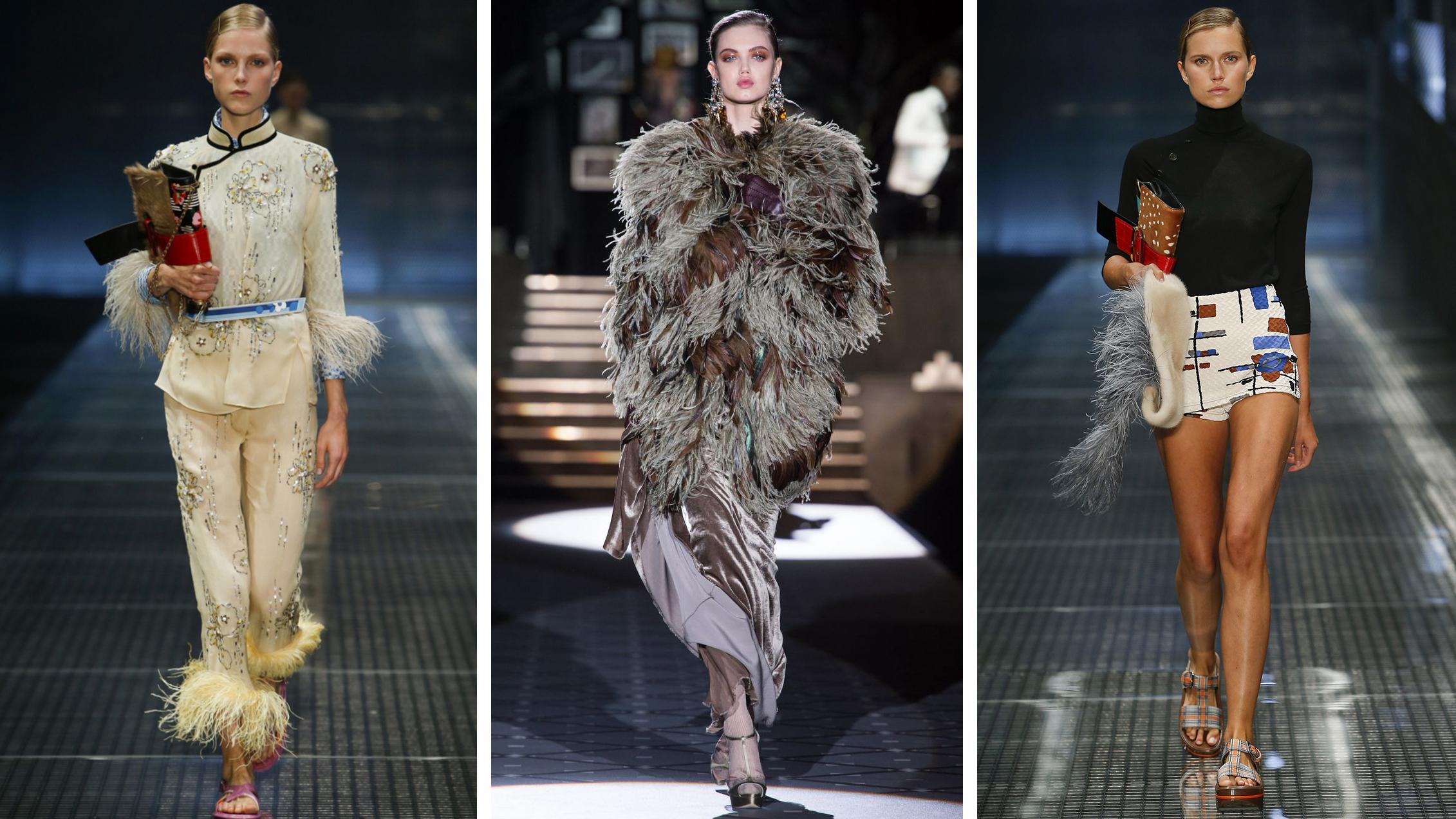 Страусиные перья в одежде