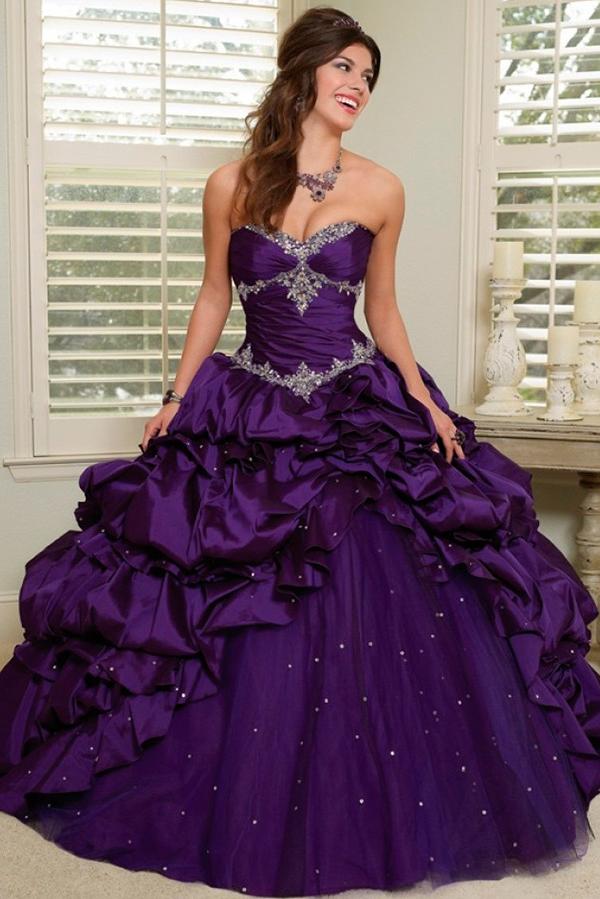 Пышные фиолетовые платья фото 5