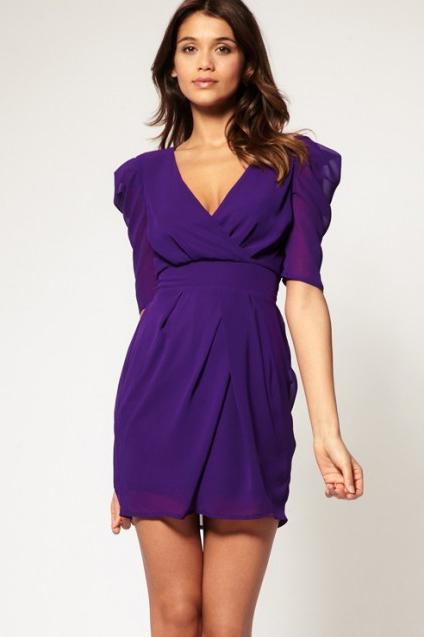Короткие фиолетовые платья фото 11
