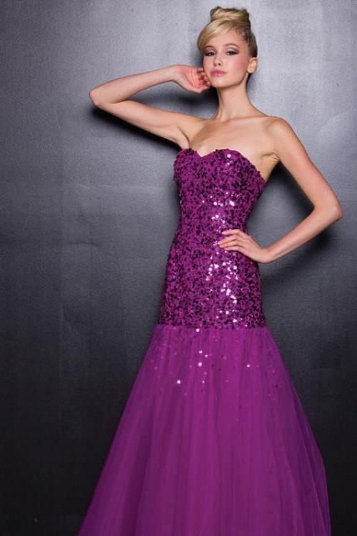Вечерние платья фиолетового цвета фото 8