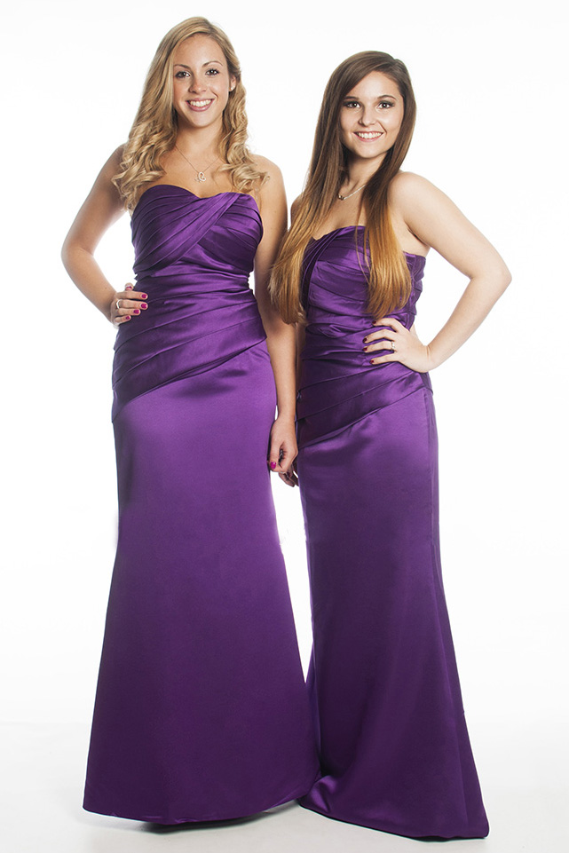 Фиолетовые платья подружек невесты фото 6