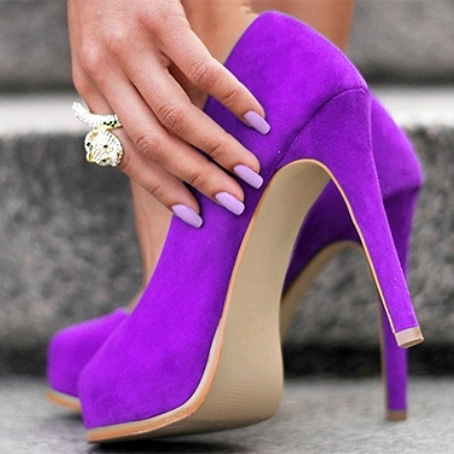 туфли к фиолетовому платью фото 5