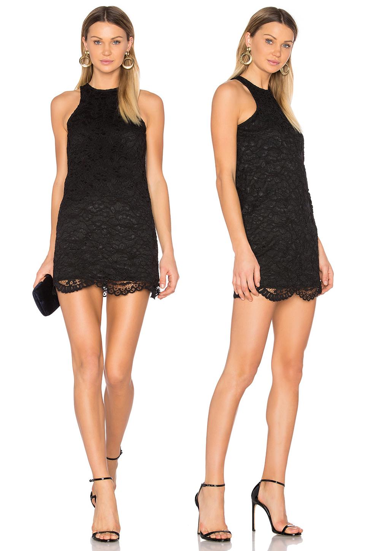 Короткое кружевное платье черного цвета фото 3