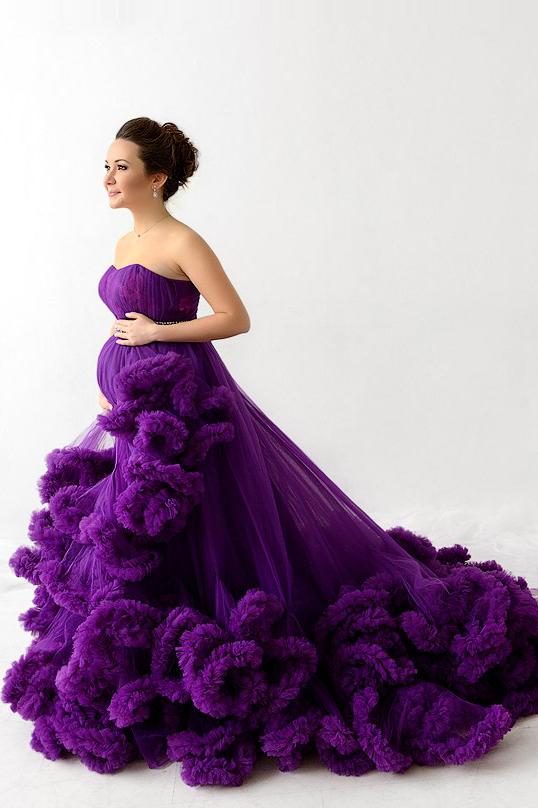 Пышные фиолетовые платья фото 4