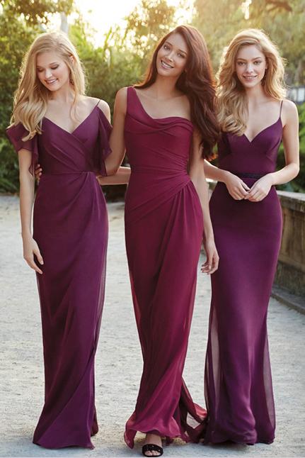 Фиолетовые платья подружек невесты фото 5