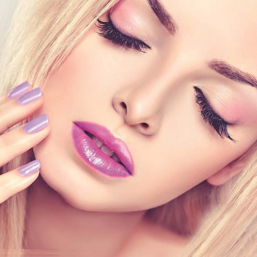 макияж под фиолетовое платье фото 2