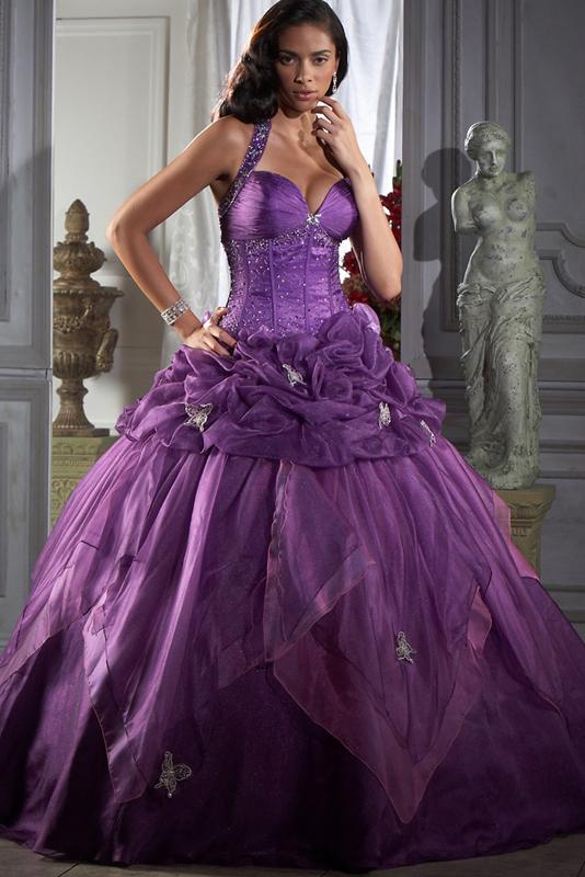 Пышные фиолетовые платья фото 1