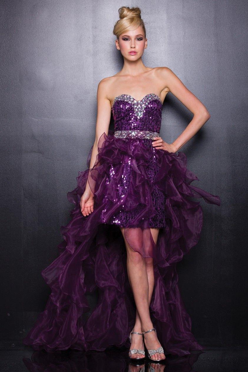 Вечерние платья фиолетового цвета фото 6