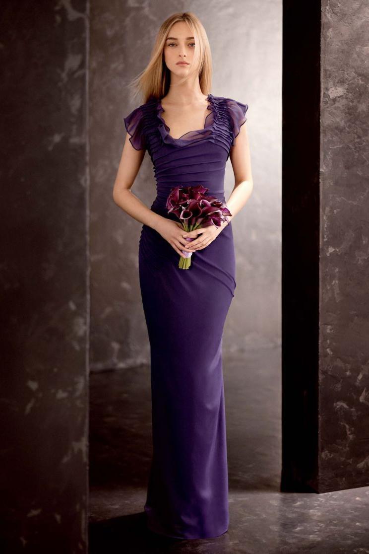 Фиолетовое свадебное платье фото 4