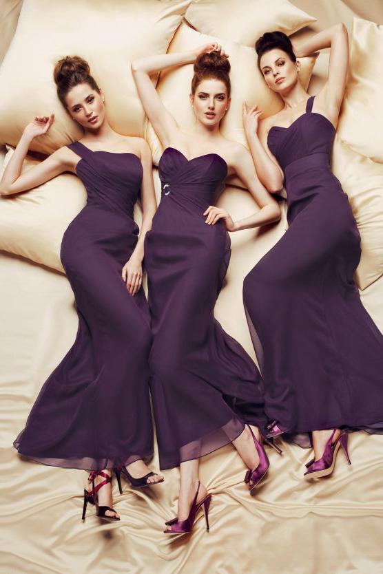 Фиолетовые платья подружек невесты фото 4