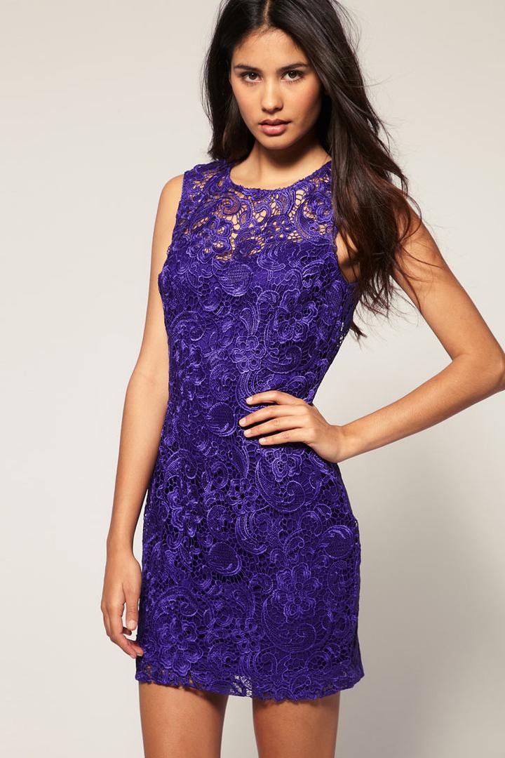 Короткие фиолетовые платья фото 9