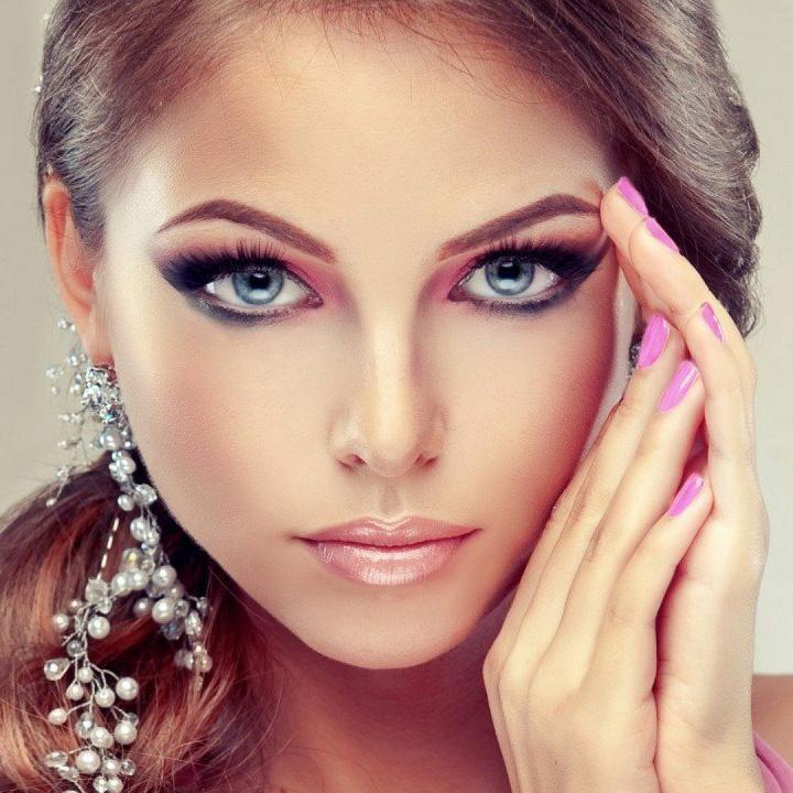 макияж под фиолетовое платье фото 3