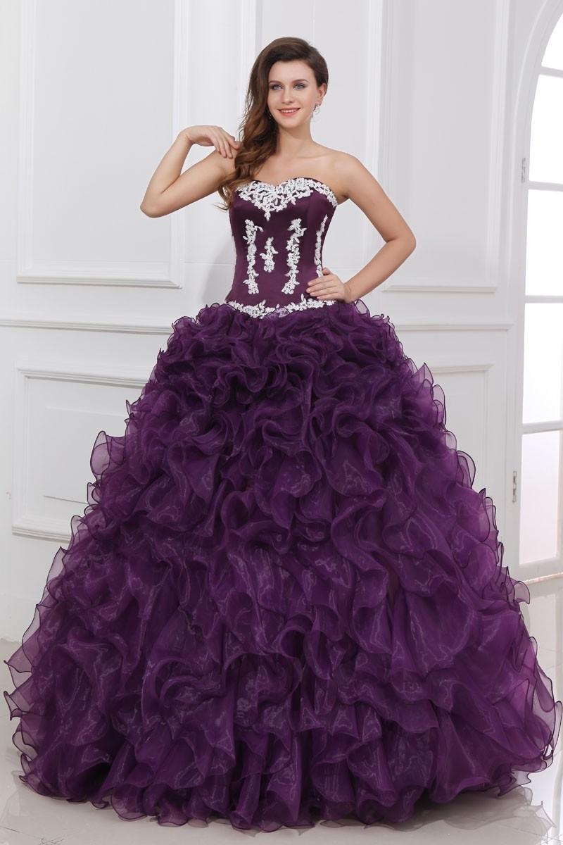Пышные фиолетовые платья фото 3
