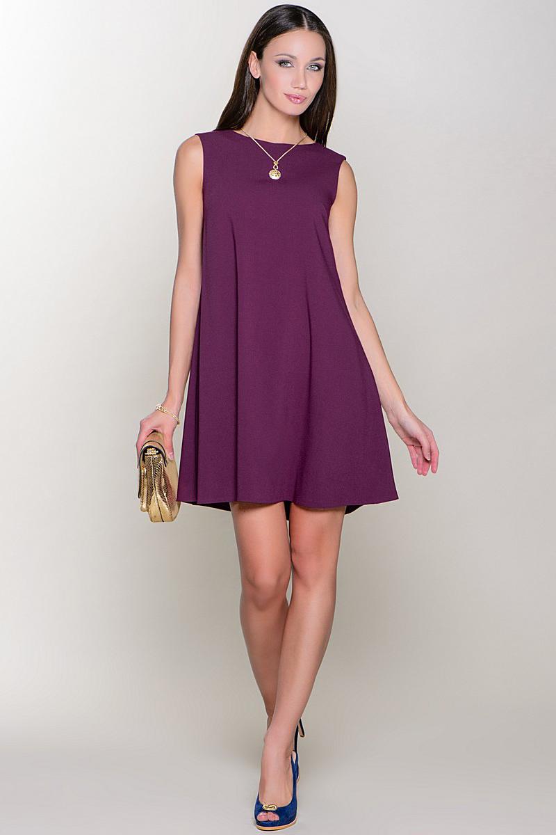 Короткие фиолетовые платья фото 7