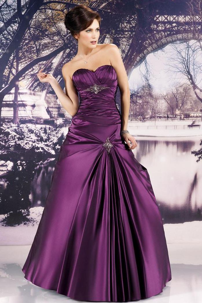 Фиолетовое свадебное платье фото 2