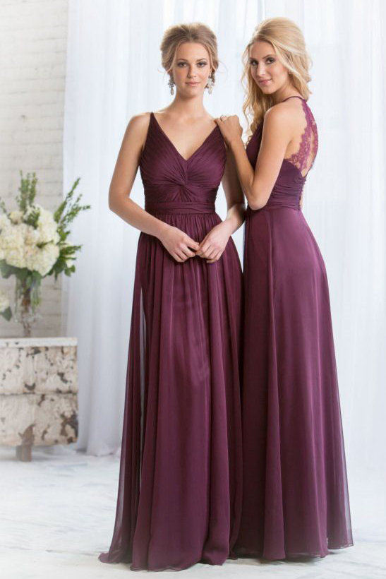 Фиолетовые платья подружек невесты фото 2