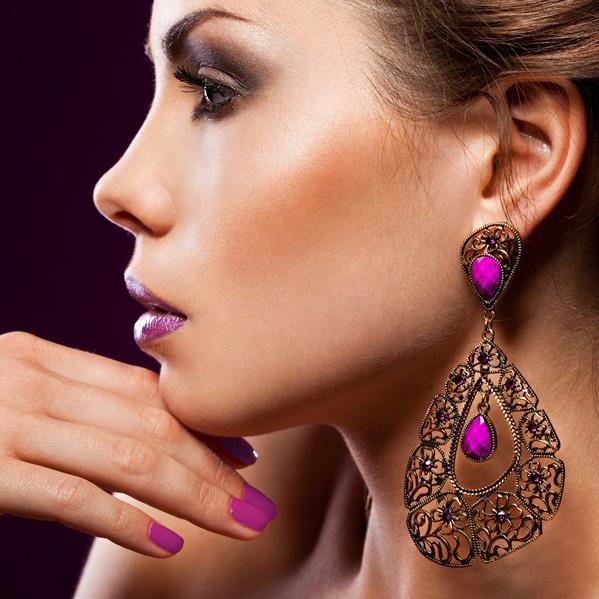 аксессуары к фиолетовому платью фото 3