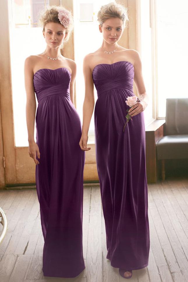 Фиолетовые платья подружек невесты фото 3
