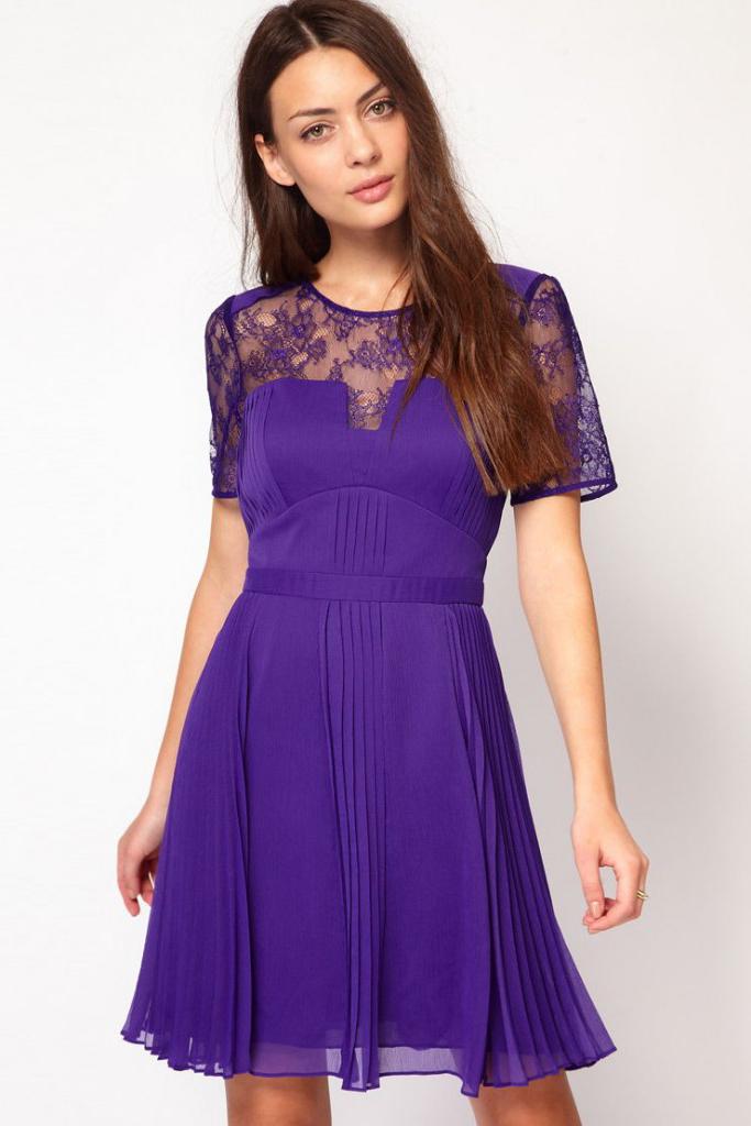 Короткие фиолетовые платья фото 8