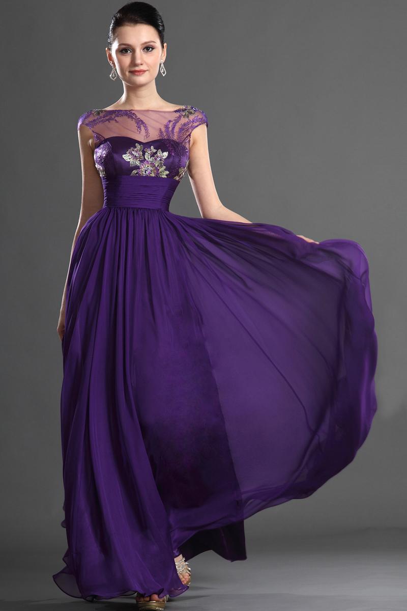 Вечерние платья фиолетового цвета фото 1