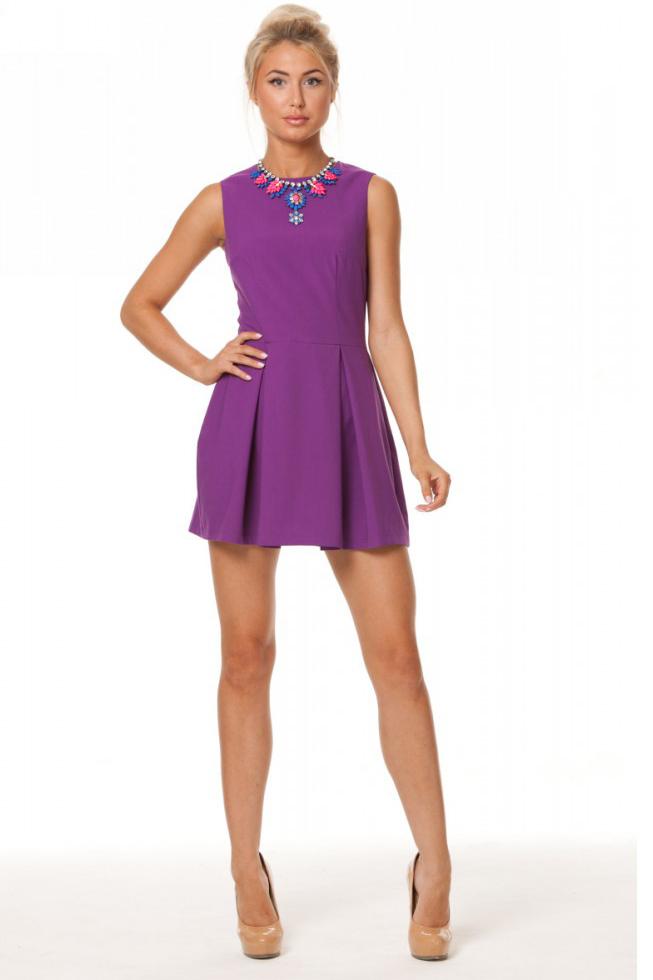 Короткие фиолетовые платья фото 6