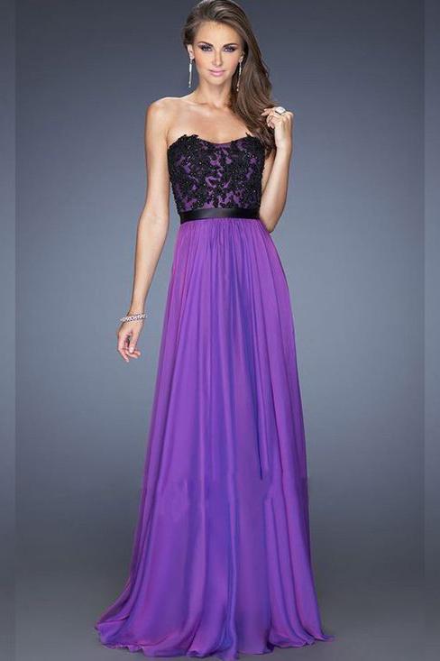 Вечерние платья фиолетового цвета фото 2