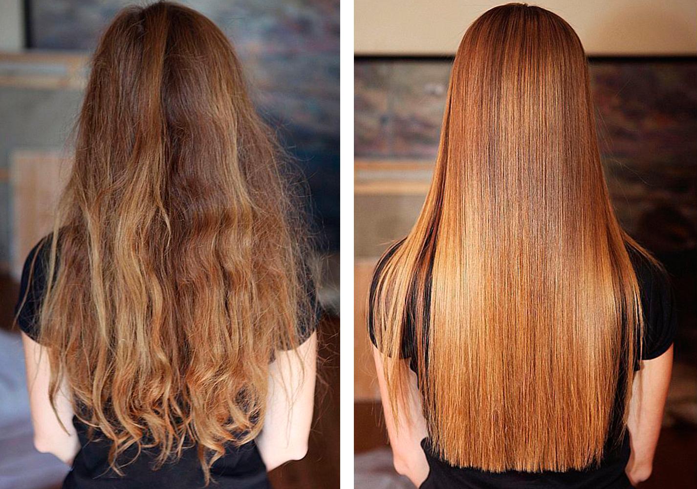 Ламинирование волос пример