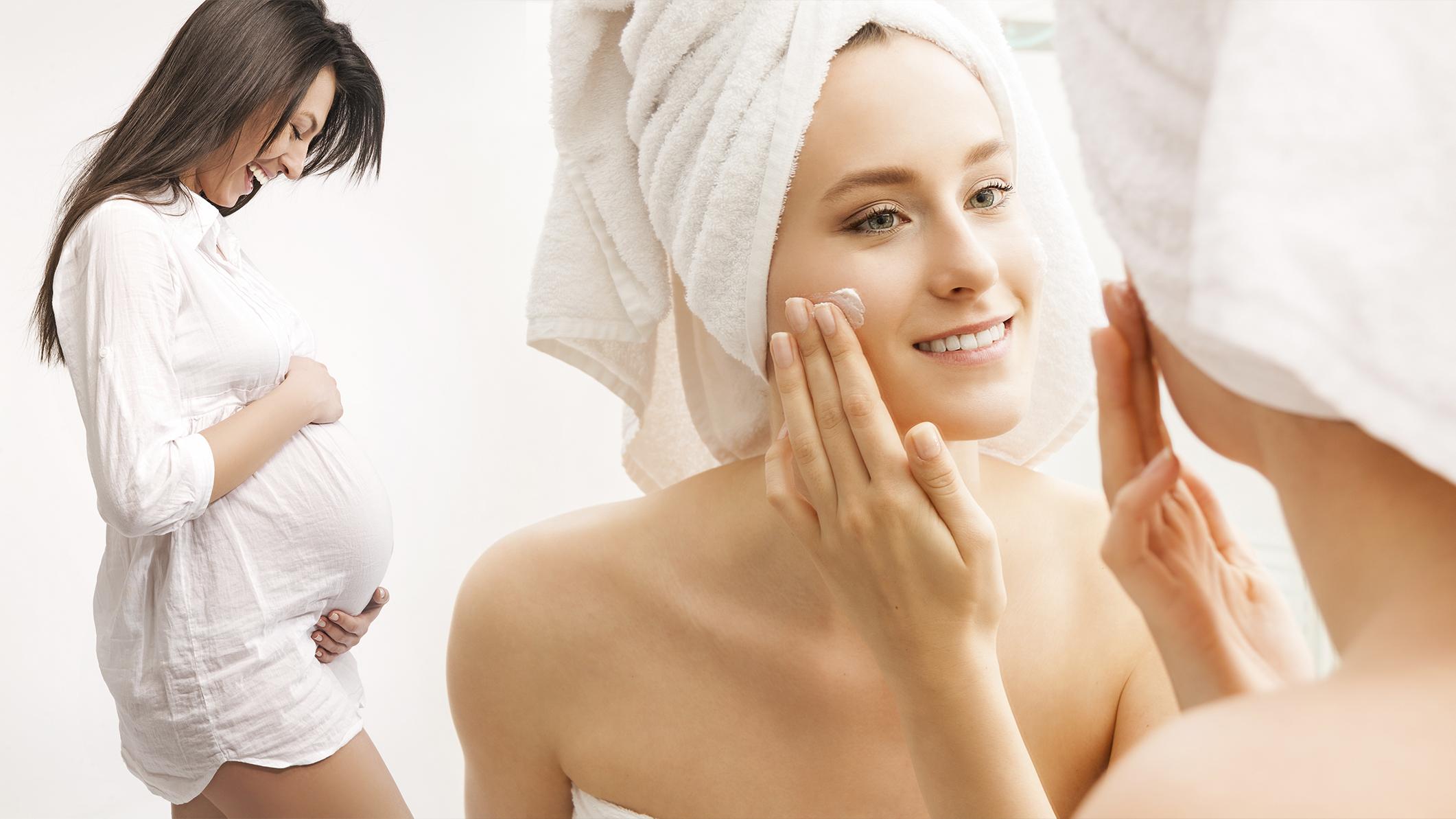 Ежедневный уход за кожей лица во время беременности