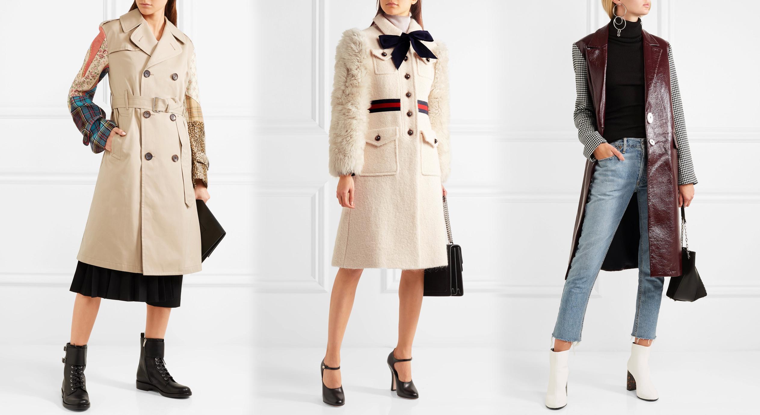 Пальто с необычными рукавами