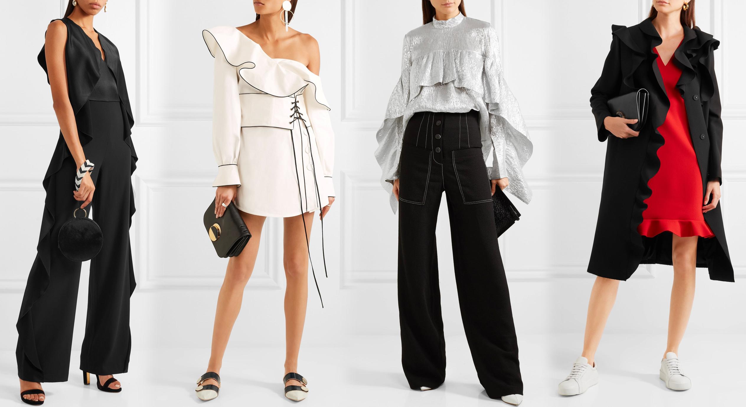Одежда с большими оборками