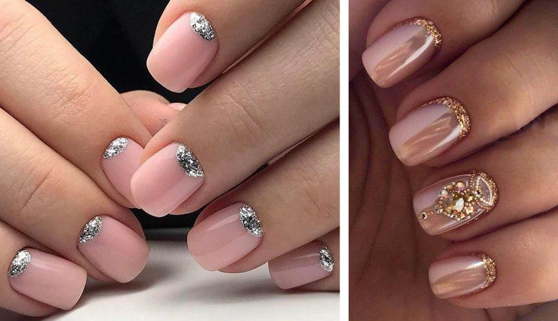новогодний дизайн ногтей лунный маникюр фото