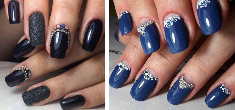дизайн ногтей лунный маникюр на новый год