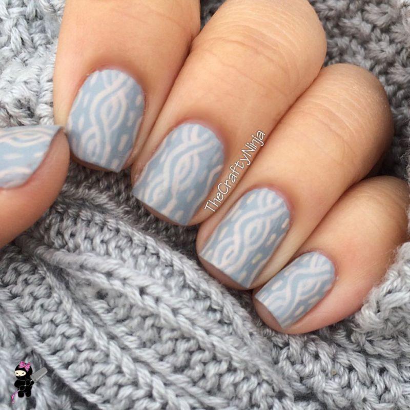 Маникюр - эффект вязаного свитера
