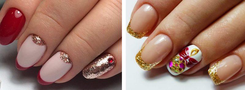 новогодний маникюр френч фото ногти