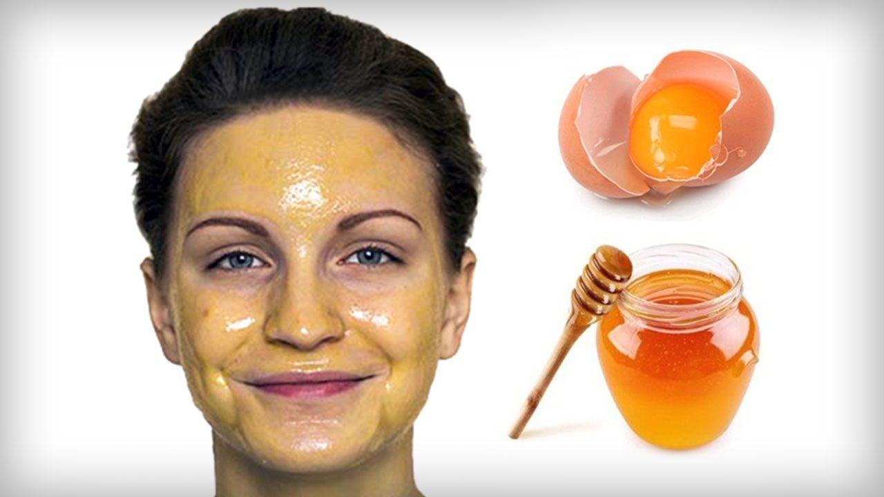 Быстрая медово-яичная маска