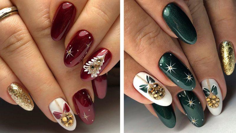 рисунки на ногтях зимняя тематика