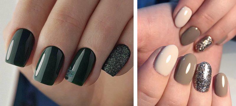 модный зимний маникюр на короткие ногти фото